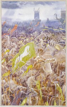The Lord of the Rings - Alan Lee Art - The Battle of Pelennor Fields