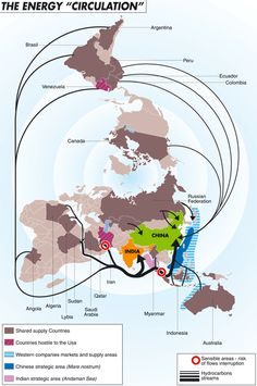 A look at the main world's oil flows that from South and North America, Asia…