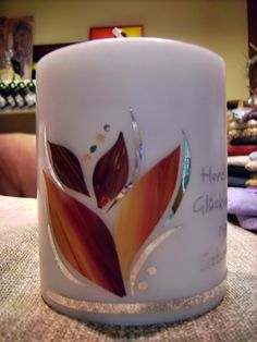 Kerzen-Design Bärbl: Geburtstag Candels, Candle Making, Sewing Crafts, Mugs, Tableware, How To Make, Handmade Candles, Decorated Candles, Embroidery