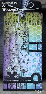 Scrap from Bemmel: Paris - I love the colors in this, very creative...