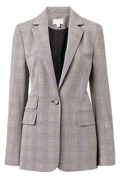Single Breasted Check Blazer | Clothing