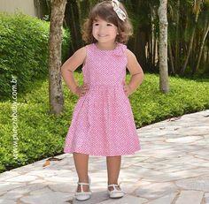 Aquele vestidinho para o passeio ou para a festinha 👗❤️!   ✏️ Vestido 1+1 - R$ 139,00  Para conferir acesse 👉🏻 www.purezababy.com.br/vestido-11-pink-laco