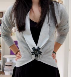 DIY Sweatshirt Blazer.