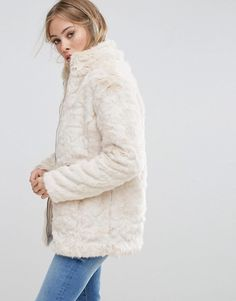 b.Young Faux Fur Jacket