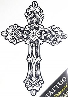 GGSELL GGSELL tattoo size x non toxic and waterproof hot selling fashionable large Cross fake temporary tattoo stickers for men -- Read more at the image link. (This is an affiliate link) Real Tattoo, Fake Tattoos, Temporary Tattoos, I Tattoo, Tattoos For Guys, Clock Tattoo Design, Cross Tattoo Designs, Cross Designs, Celtic Cross Tattoos