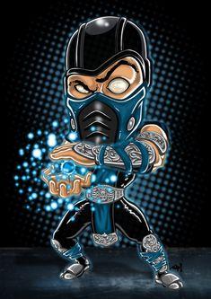 Scorpion on Mortal-Kombat-Fans - DeviantArt Dope Cartoons, Dope Cartoon Art, Cartoon Drawings, Scorpion Mortal Kombat, Mortal Kombat Art, Chibi Marvel, Minions, Mortal Combat, Leila