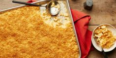 When you spread your mac and cheese out on a sheet pan and top it with lots of buttery breadcrumbs, you achieve maximum crunchiness in every cheesy bite.