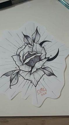 Portfolio, Leaf Tattoos, Tattoo Drawings, Blackwork, Tattoo Ideas, Moose Art, Dibujo, Ideas, Roses