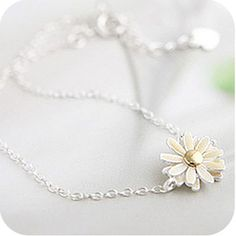 OMH wholesale Ob0075 accessories irritably paragraph of small daisy yellow flower bracelet 6g