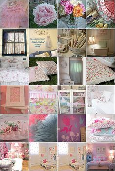 Inspiration for K's new shabby chic bedroom by Kaytiebugs, via Flickr