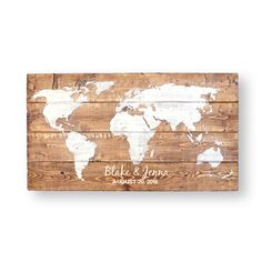 Travel Theme Wedding- World Map- Wedding Guest Book Alternative- Wedding Welcome Sign In- Wood Wedding Guest Book- Wedding Decor- PRE-ORDER