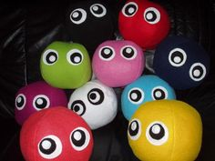 Cuddly Ball With Eyes PILLOW. $18.00, via Etsy.