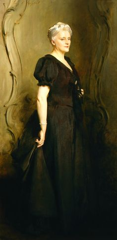 John Singer Sargent. Mrs. Frederick William Roller, 1895. Oil on canvas. 88 ¼  x 44 5/8 in. Frye Art Museum, Museum Purchase 1981.014.