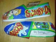 Scooby Doo hand painted TOMS by MyHeartToYourSole on Etsy, $105.00