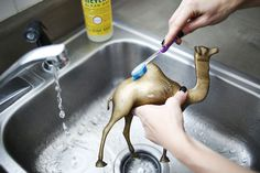 How to Clean Brass via @Elsie Larson of A Beautiful Mess