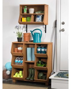 Storage Cubby. Want this for the garage!! Tired of tripping over shoes by the door.