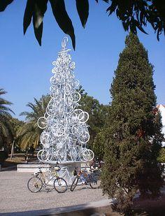 bicycle christmas tree