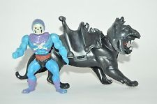 VERY RARE TOY MEXICAN FIGURE BOOTLEG HE-MAN SKELETOR AND BATLLE CAT BLUE I