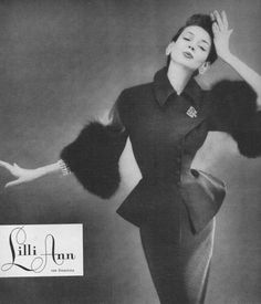 Dorian Leigh for Lilli Ann, 1954.....Lilli Ann.....one of my Mother's favorites......and she looked beautiful!
