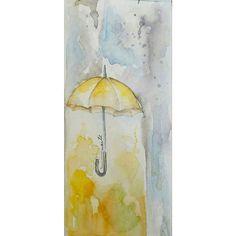 Aquarela Guarda Chuva / Watercolor Umbrella. Siga-nos no Facebook ou Instagram para conhecer mais projetos @manae_atelier