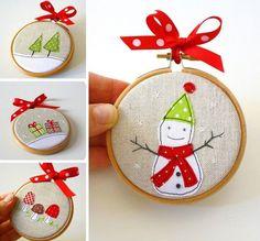 38 Handmade Christmas Ornaments - Handmade Stitched Ornaments
