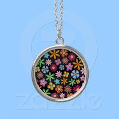 Flowers Naif Design Necklace