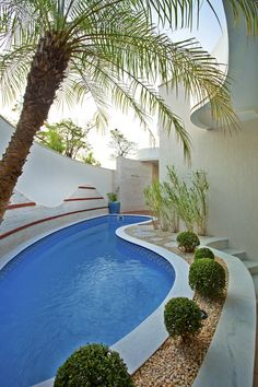 Reforma Casa Ipiranga: Piscinas modernas por Designer de Interiores e Paisagista Iara Kílaris Swiming Pool, Small Swimming Pools, Small Pools, Swimming Pools Backyard, Swimming Pool Designs, Backyard Pool Designs, Small Backyard Pools, Outdoor Pool, Vinyl Pool