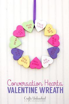 Valentine's-Day-DIY-conversation-heart-wreath-Crafts-Unleashed
