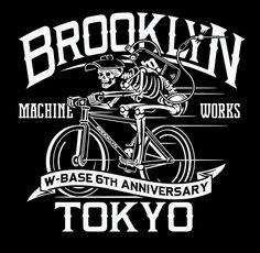 Zach Shuta for brooklyn machine works Typography Design, Logo Design, Lettering, Tee Design, Tokyo, Typo Logo, Bike Art, Global Design, Cool Logo