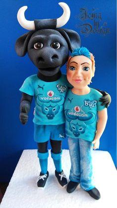 Blue bulls!! - Cake by Jennifer