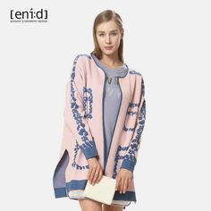 enid 商场同款新款双色印花毛衣外套 1616901-tmall.com天猫