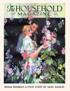 The Garden of Romance ~ cover of The Household Magazine, June 1935