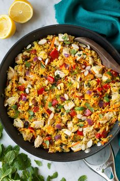 One Pan Moroccan Chicken and Couscous - Cooking Classy