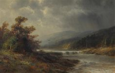 Thomas Bailey Griffin - Stormy Day on the Delaware...