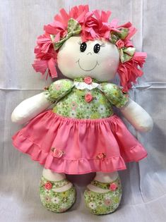 Discover thousands of images about Pepona Felt Animal Patterns, Doll Patterns, Doll Crafts, Diy Doll, Sewing Dolls, Soft Dolls, Felt Toys, Fabric Dolls, Doll Face