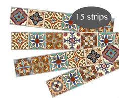 Stair Riser Vinyl Strips Removable Sticker Peel & Stick : Spanish Mexican - Home is where . Tile Decals, Vinyl Decals, Vinyl Tiles, Tuile, Peel And Stick Tile, Adhesive Vinyl, Tile Design, Decoration, Etsy