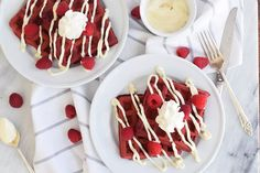 Sweet and dreamy, these red velvet waffles make the perfect romantic breakfast. They fit right in on Waffle Recipes, Breakfast Dishes, Breakfast Recipes, Breakfast Ideas, Breakfast Time, Brunch Recipes, Fall Recipes, Summer Recipes, Waffles