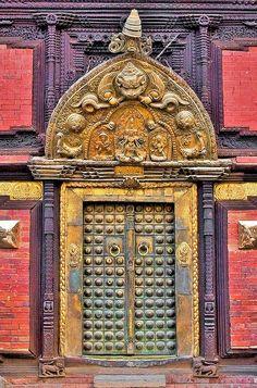 Nepal, Patan Palace's Door