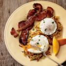 Try the Garden Hash Browns with Poached Eggs and Bacon Recipe on williams-sonoma.com/