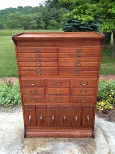 Antique Stacking File Cabinet By Gunn