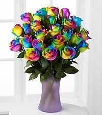 Rainbow Roses....OMG...so beautiful...I usually don't like Roses, but I love rainbows..these are amazing...
