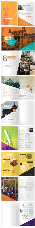 Travel magazine layouts.