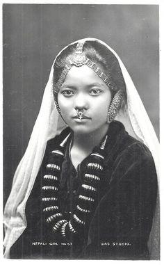 1920s Nepali girl |brown girl Magazine