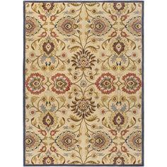 Elliot Natural & Brick Floral Wool Hand-Tufted Area Rug
