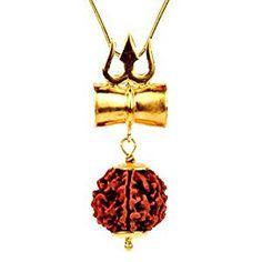 Ankita Gemstones Rudraksha Damru Locket Pendant Shiv Shakti Kavach With Gold Plated Chain Mens Gold Jewelry, Black Gold Jewelry, Pendant Design, Pendant Set, Diamond Pendant, Locket Design, Jewelry Design, Gold Mangalsutra Designs, Gold Chains For Men