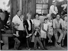 Colonel Parker and Elvis Presley with other cast members, Elvis Presley on the Follow That Dream Set