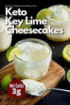 Healthy Low Carb Recipes, Low Carb Keto, Keto Recipes, Dessert Recipes, Appetizer Recipes, Dinner Recipes, Low Carb Deserts, Low Carb Sweets, Diabetic Deserts