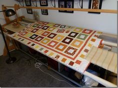 Ulmer Amish made quilt frame...small portable, better than PVC one ... : ulmer quilt frame - Adamdwight.com