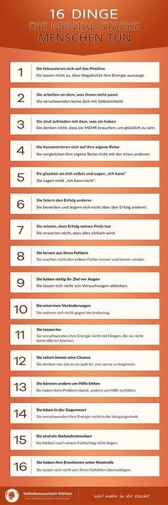 16 Dinge, die mental starke Menschen tun