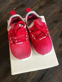 74f6d7a38d04e0 Adidas Red Human Race 5c kids shoes  fashion  clothing  shoes  accessories